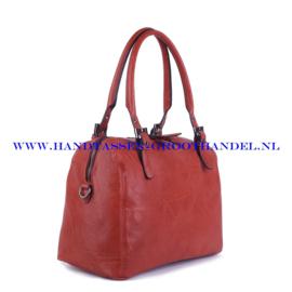 N73 Handtas Ines Delaure 1682192 brique (rood - camel)