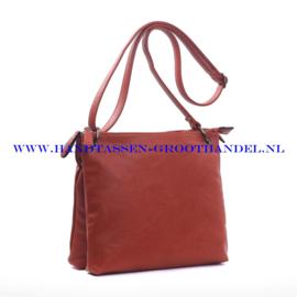 N72 Handtas Ines Delaure 1682177 brique (rood - camel)