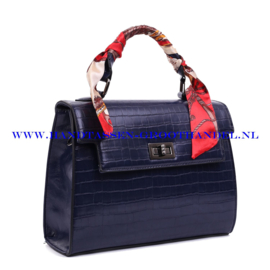 N38 Handtas Ines Delaure 1682239 blauw (croco)