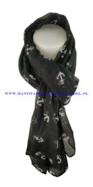 N5 sjaal enec-1043 zwart