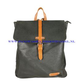 N38 Handtas Flora & Co 6725 zwart-camel