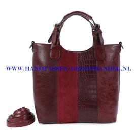 N117 Handtas Ines Delaure 1682738 marsala (rood)