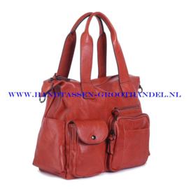 N107 Handtas Ines Delaure 1682242 brique (rood - camel)