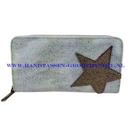 N18 portemonnee Mandoline 301 blauw