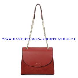 N88 Handtas Ines Delaure 1682720 brique (camel - rood)