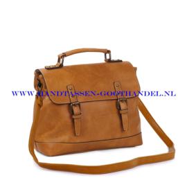 N38 Handtas Ines Delaure 1681652 saffran (geel - camel)