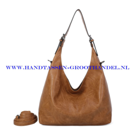 N39 Handtas Ines Delaure 1682832 moutarde (mosterd - bruin)