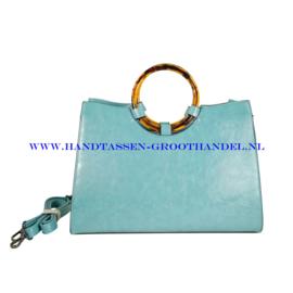 N107 Handtas Ines Delaure 1682301 azur (blauw - groen)