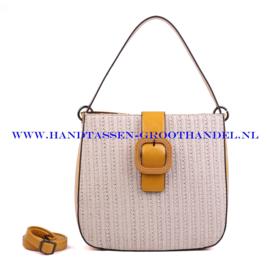 N38 Handtas Ines Delaure 1682325 geel