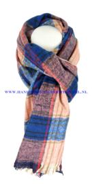 N12 sjaal ENEC-844 blauw-roze
