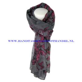N7 sjaal 1007 grijs - violet (paars)