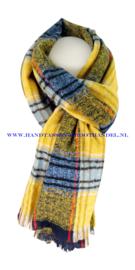 N12 sjaal ENEC-844 geel-blauw