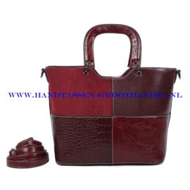 N41 Handtas Ines Delaure 1682342a marsala (rood)