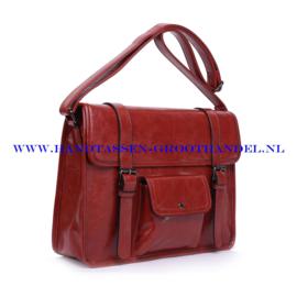 N73 Handtas Ines Delaure 1682218 brique (rood -camel)