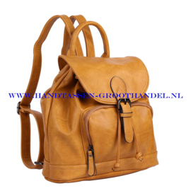 N34 Handtas-rugzak Ines Delaure 168485 saffran  (geel - camel)