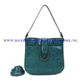 N117 Handtas Ines Delaure 1682697 emeraude (smaragd - groen - blauw)