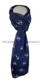 N5 sjaal enec-1043 donker blauw