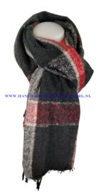 N12 sjaal ENEC-872 zwart-rood