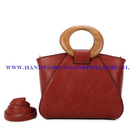 N107 Handtas Ines Delaure 1682209m brique (bruin - rood)