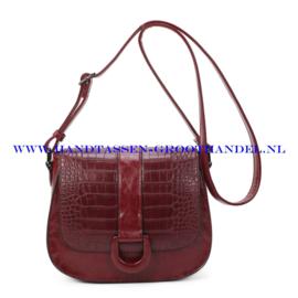 N112 Handtas Ines Delaure 1682761 marsala (rood)