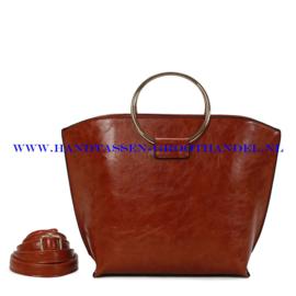 N73 Handtas Ines Delaure 1682643 fauve (oranje - camel)