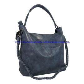 N36 Handtas Eleganci 8262-2 blauw