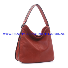 N73 Handtas Ines Delaure 1681772 brique (rood - camel)