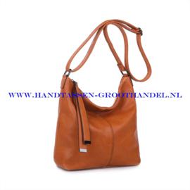 N36 Handtas Ines Delaure 1682067 fauve (camel - oranje)