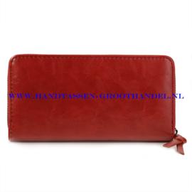 N60 portemonnee Ines Delaure B002 brique (rood - camel)