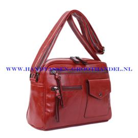 N38 Handtas Ines Delaure 1682235 brique (rood - camel)