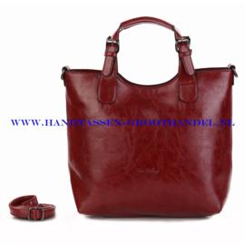 N72 Handtas Ines Delaure 168168 marsala (rood)