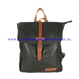 N36 Handtas Flora & Co 6730 zwart - camel