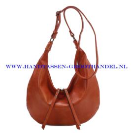 N35 Handtas Ines Delaure 1682518 fauve (camel -oranje)