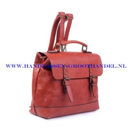 N38 Handtas Ines Delaure 1681652 brique (rood - camel)