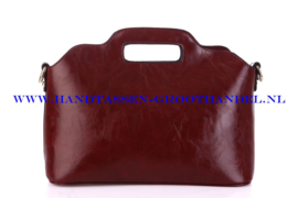 N35 Handtas Ines Delaure 168018 marsala (rood - bordeaux)