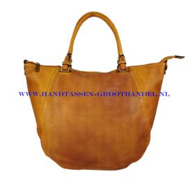 N39 Handtas Qischa 178-r bruin (oranje - camel)