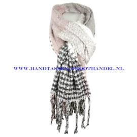 N16 sjaal 1858 roze/grijs