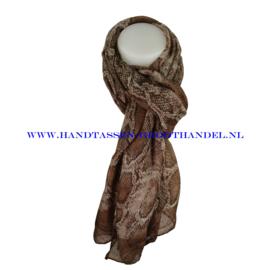 N5 sjaal ENEC-814 coffee (bruin)