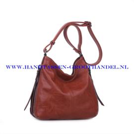 N72 Handtas Ines Delaure 1681669 brique (rood - camel)