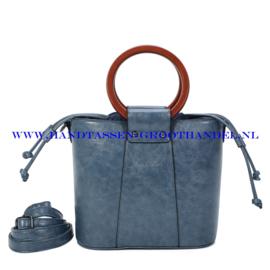 N107 Handtas Ines Delaure 1682507 bleu horizon (blauw)