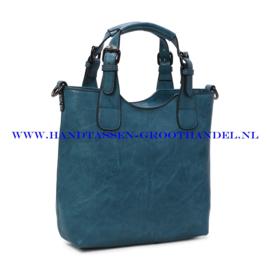 N36 Handtas Ines Delaure 1681868 bleu paon (blauw)