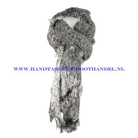 N60 sjaal 1854 grijs/wit