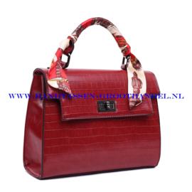 N38 Handtas Ines Delaure 1682239 rood (croco)