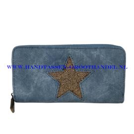 N18 portemonnee Mandoline 309 licht blauw