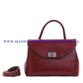 N103 Handtas Qischa 1681457a marsala (bruin - rood)