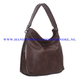 N73 Handtas Ines Delaure 1681772 marron (donker bruin)