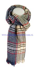 N12 sjaal ENEC-844 blauw-grijs-beige