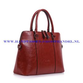 N38 Handtas Ines Delaure 1682236 brique (rood - camel)