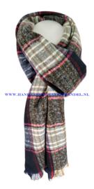 N12 sjaal ENEC-844 blauw-zwart-beige