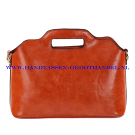 N35 Handtas Ines Delaure 168018 fauve (oranje - camel)